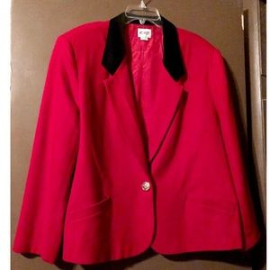 Women's Wool Red Jacket